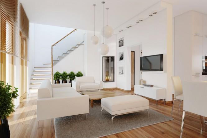 contemporar living room plants 665x443 Classy Living Rooms