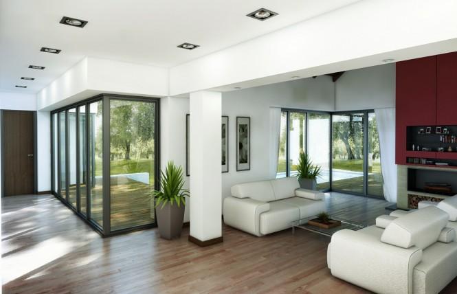 full length window living 665x428 Classy Living Rooms