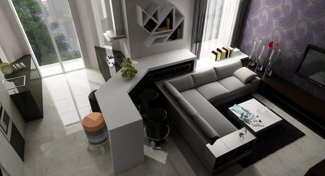 living room wallpaper design 665x361 Classy Living Rooms