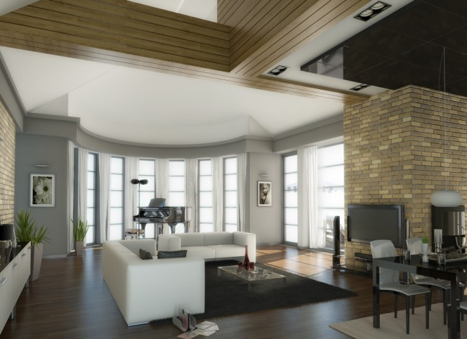 traditional living room 665x483 Classy Living Rooms